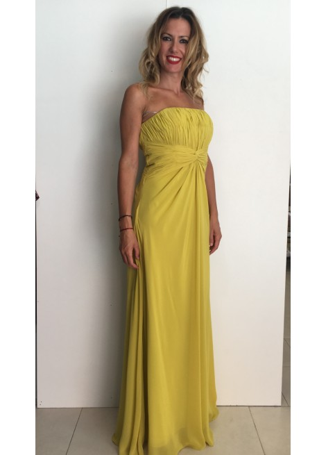 a7f6ab4e71 vestido largo de fiesta palabra de honor - Ikka Shop