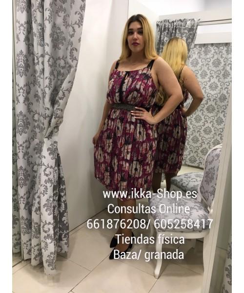 598d7d9b7 Vestido Corto Vuelo Estampado - Ikka Shop