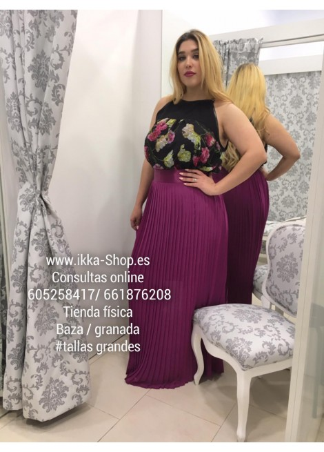 Falda Plisada Mercedes Garcia Rosa